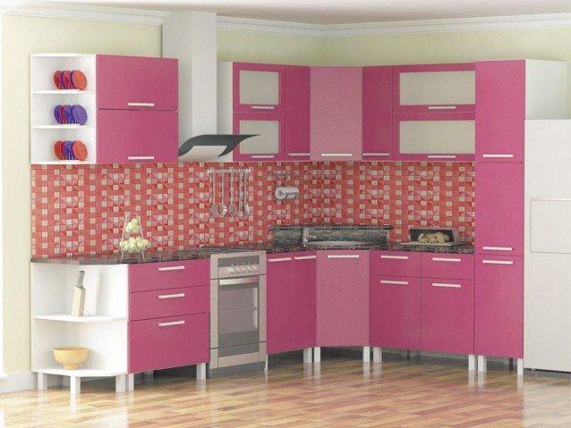 Кухня Брусника металлик