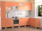 Кухня Абрикосовый металлик