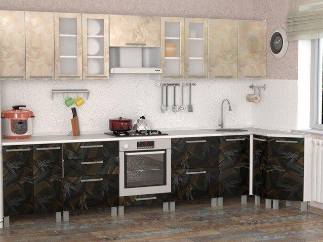 Кухня Летучая мышь комбинированная