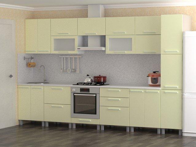 Кухня Кремовый металлик