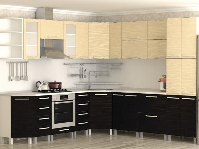 Кухня Ваниль шоколад/тиснение