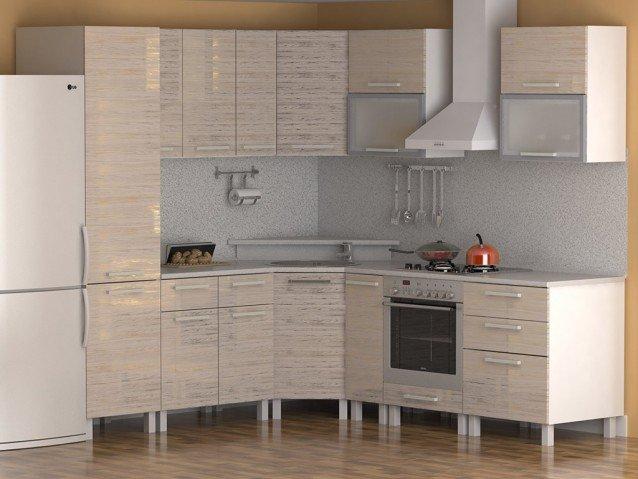 Кухня Зебрано золото