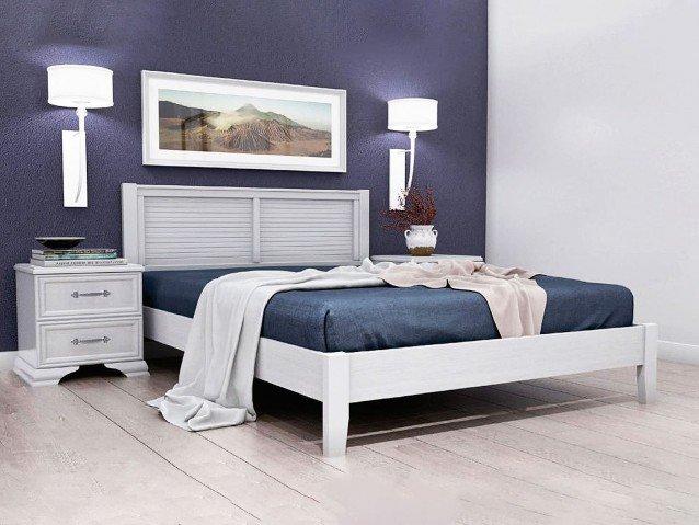 Кровать Грация 3 Белый Античный