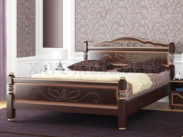 Кровать Карина 5 Орех тёмный