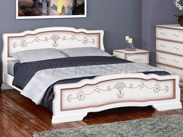 Кровать Карина 6 Дуб молочный с ящиками