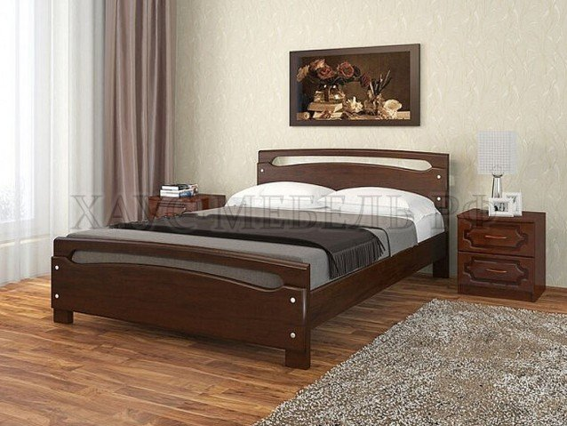 Кровать Камелия 2 дуб коньяк