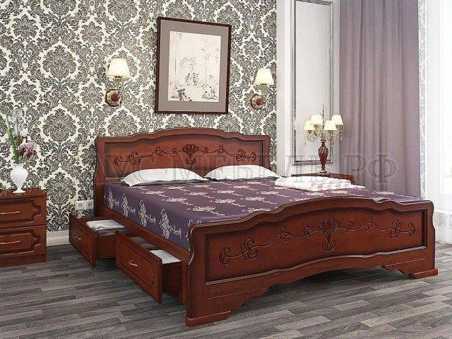 Кровать Карина 6 Орех с ящиками