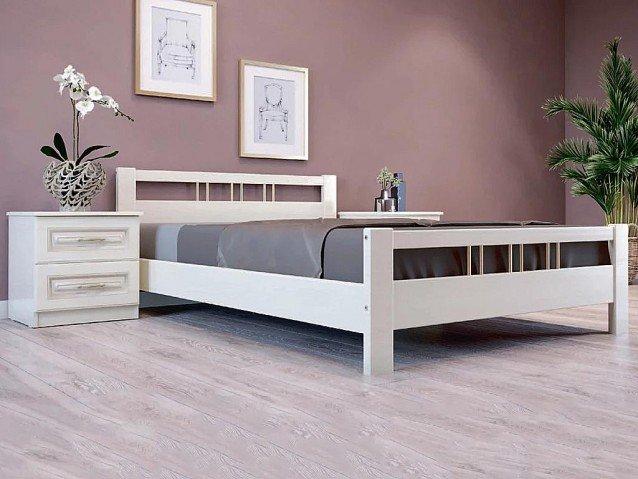 Кровать Вероника 3 Слоновая кость
