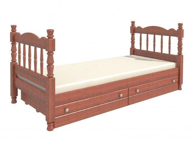 Кровать Алёнка одинарная орех
