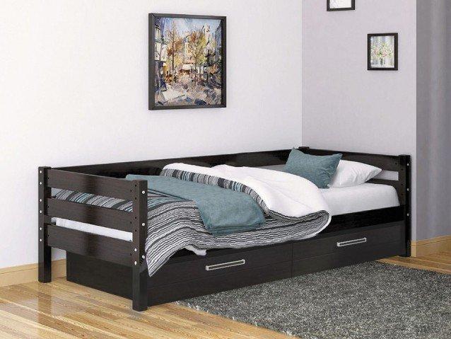 Кровать Глория Орех темный