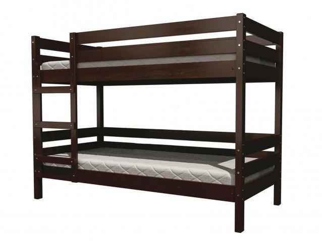 Кровать детская Джуниор двухъярусная орех темный