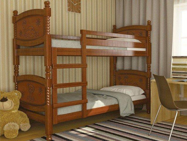 Кровать Валерия двухъярусная орех