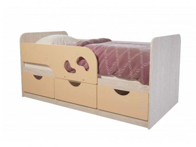 Кровать детская Минима лего 1860 мм. крем