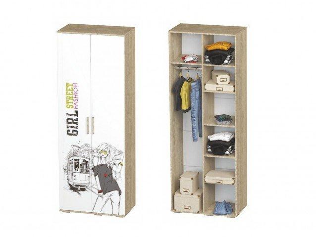 Шкаф для одежды ШК-09 Сенди для девочки
