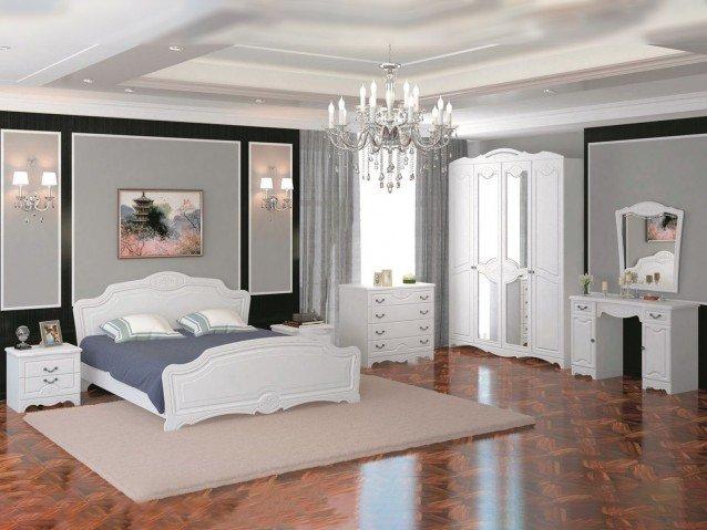 Спальня Лотос Белый глянец