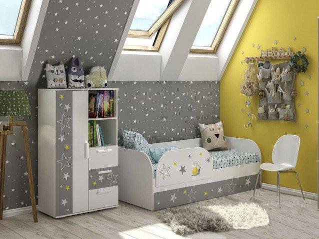 Детская Трио ( Кровать + шкаф ) Звездное детство