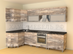 Кухня угловая ЛДСП Матрикс/Битон 4200 мм.