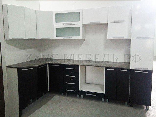Кухня Белый/Черный глянец