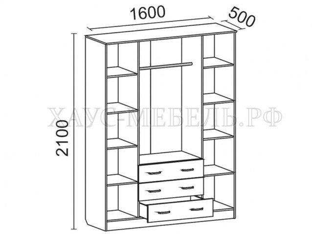 Шкаф 4-створчатый 1