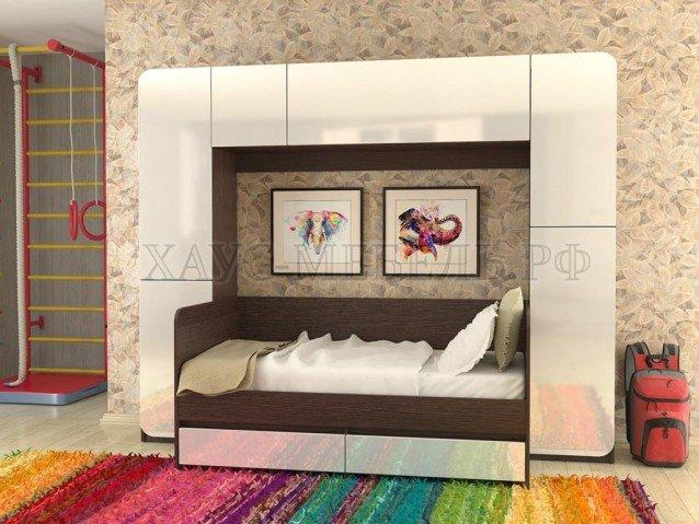 Модульная стенка Глория + кровать