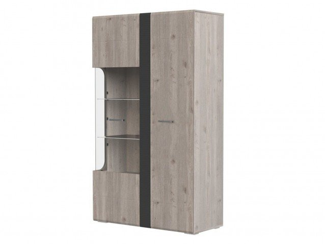 Шкаф с витриной 2 двери Бриз