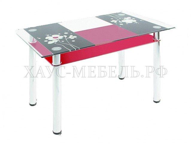 Стол обеденный Красный с полкой