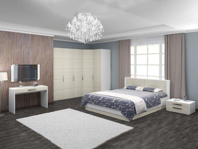 Спальня Вива Белый глянец/Платина