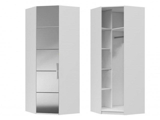 Шкаф угловой ( зеркало ) Вива Белый глянец